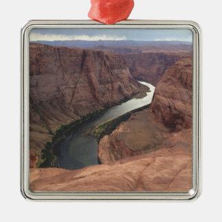 ARIZONA - HoefijzerKromming A - Rode Rots Zilverkleurig Vierkant Ornament