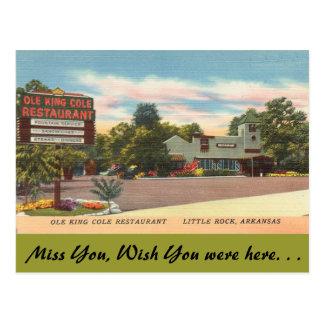 Arkansas, Cole van de Koning Ole Restaurant Briefkaart