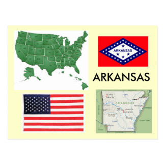 Arkansas, de V.S. Briefkaart