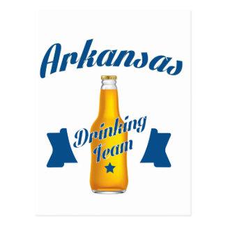 Arkansas die team drink briefkaart