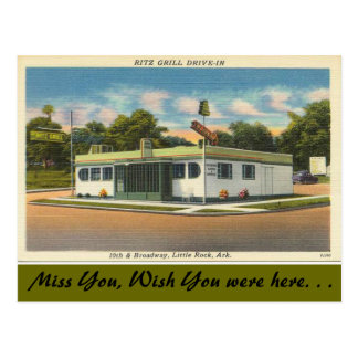 Arkansas, Grill Ritz aandrijving-binnen Briefkaart