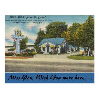 Arkansas, het Blauwe Hof van de Toerist van de Briefkaart