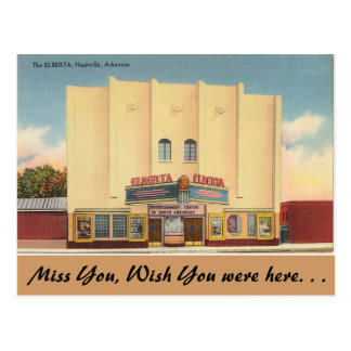 Arkansas, het Theater Elberta Briefkaart
