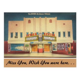 Arkansas, het Theater Sevier Briefkaart