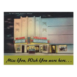 Arkansas, het Theater van Williams Briefkaart