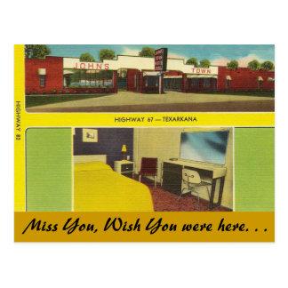 Arkansas, John het Motel van de Stad Briefkaart