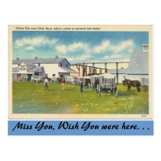 Arkansas, Katoenen Jenever Briefkaart