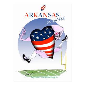 Arkansas luide en trotse, tony fernandes briefkaart