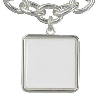 Armband van de Charme van de douane de Vierkante