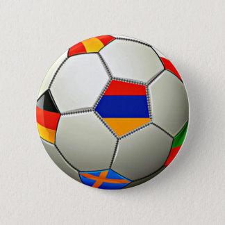 Armeense Soccerr om Knoop Ronde Button 5,7 Cm