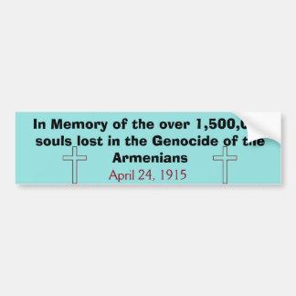 Armeense Volkerenmoord Bumpersticker