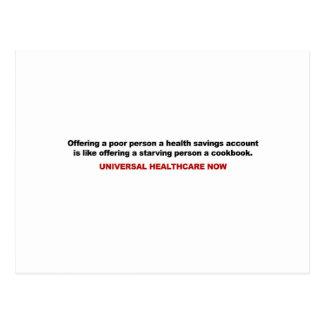 Armen, de Spaarrekening van de Gezondheid, Briefkaart
