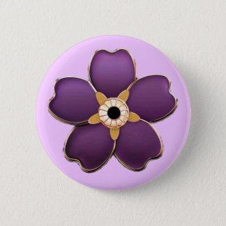 Armeniër vergeet me niet bloem om Knoop Ronde Button 5,7 Cm