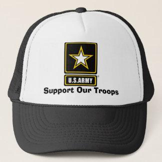 armylogotranspbkgd, steun Onze Troepen Trucker Pet