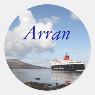 Arran, Schotland Ronde Sticker