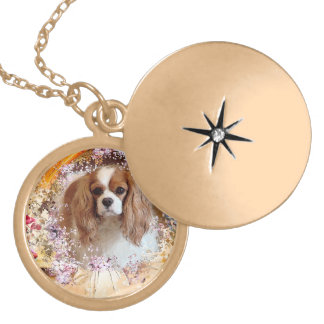 Arrogante Koning Charles Spaniel Locket Ketting