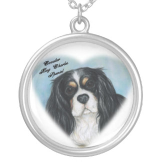 Arrogante Koning Charles Spaniel Necklace Zilver Vergulden Ketting