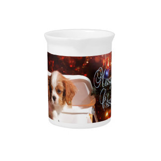 Arrogante puppyKerstkaart Drink Pitcher