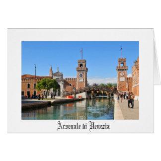 Arsenaal in Venetië, Italië Wenskaart