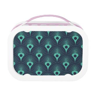art deco, Jugendstil, wijnoogst, blauwe Lunchbox