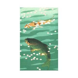 Art. ukiyo-E van de Vijver van de Vissen van de Canvas Afdrukken