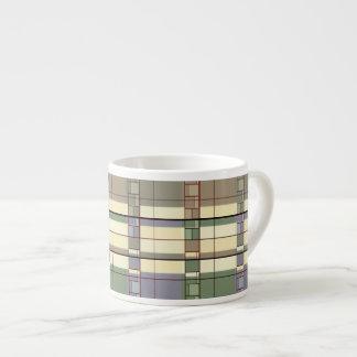 Art. van de Abstractie van de pastelkleur het Espresso Kop