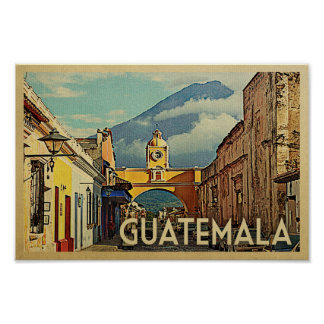 Art. van de Antigua van de Reis van het Poster van