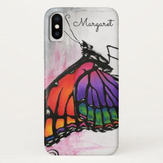 Art. van de Fantasie van de Vlinder van de Monarch iPhone X Hoesje