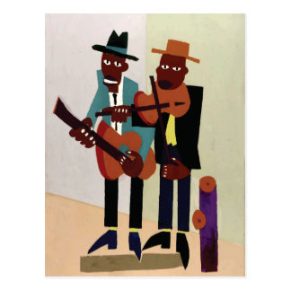 Art. van de Musici ~ van de straat het Vintage Briefkaart