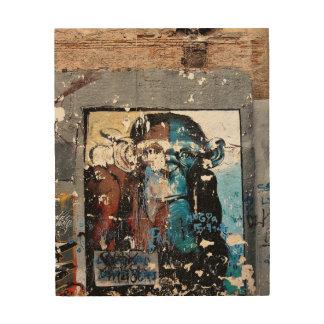 Art. van de Muur van de muurschildering van de aap Hout Afdruk