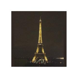 Art. van de Muur van de Toren van Eiffel het Houten Canvas Print