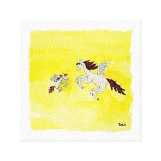 Art. van de Muur van het Canvas van het Pony