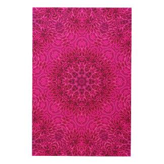 Art. van de Muur van het Patroon van de bloem het Hout Prints