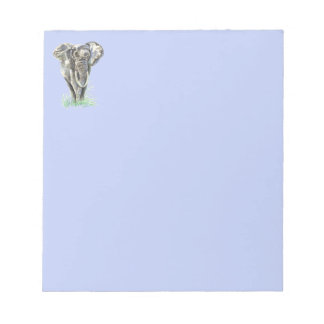 Art. van de Natuur van de Olifant van de waterverf Notitieblok