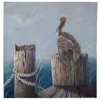 Art. van de Pelikaan van de Kust van Oregon het Katoenen Servet