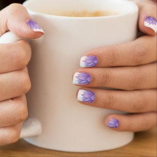 Art. van de Spijker van de paarse Waterverf het Minx Nail Art