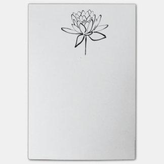 Art. van de Tekening van de Inkt van de Bloem van Post-it® Notes