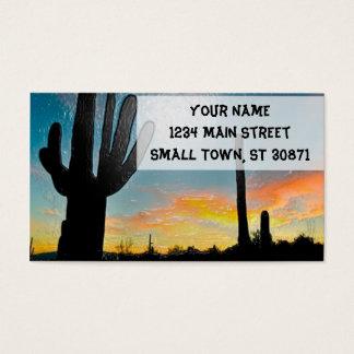 Art. van de Zonsondergang van de Cactus van Visitekaartjes