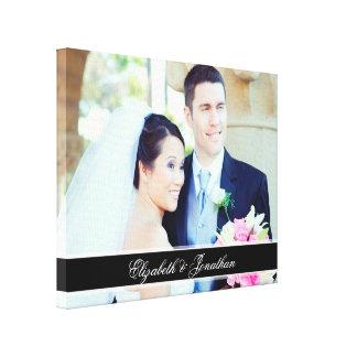 Art. van het Canvas van het Huwelijk van de douane Stretched Canvas Prints