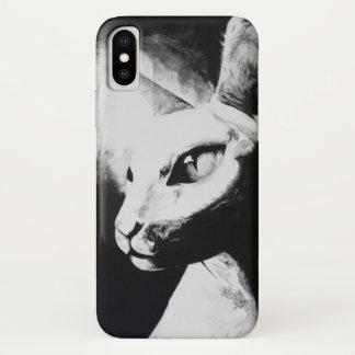 Art. van het Kat van het Contrast van de Kat van iPhone X Hoesje