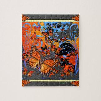 Art. van het Weer van de Vlinders van de monarch Puzzel