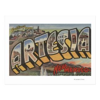 Artesia, New Mexico - de Grote Scènes van de Brief Briefkaart