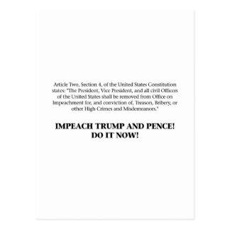 Artikelen van Beschuldiging - beschuldig Troef en Briefkaart