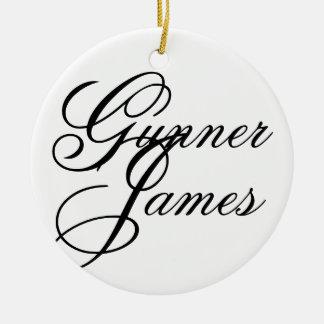 Artillerist James Rond Keramisch Ornament