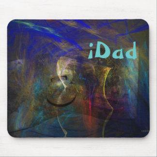 Artistieke abstracte Mousepad met douane iDad teks Muismat