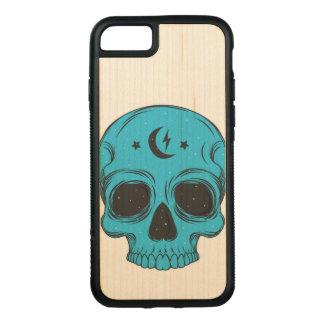 Artistieke (blauwe) Schedel Carved iPhone 8/7 Hoesje