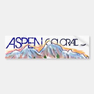 Artistieke de bergsticker van Colorado van de esp Bumpersticker