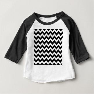 Artistieke Zwart-witte zigzag Baby T Shirts