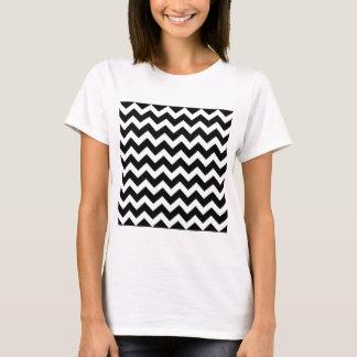 Artistieke Zwart-witte zigzag T Shirt