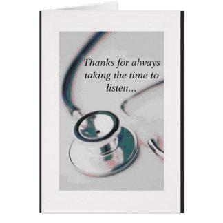 arts, Bedankt voor altijd het vergen van de tijd Kaart
